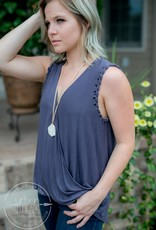 Charlie Charcoal Top