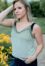 Washed Olive Lace Cami