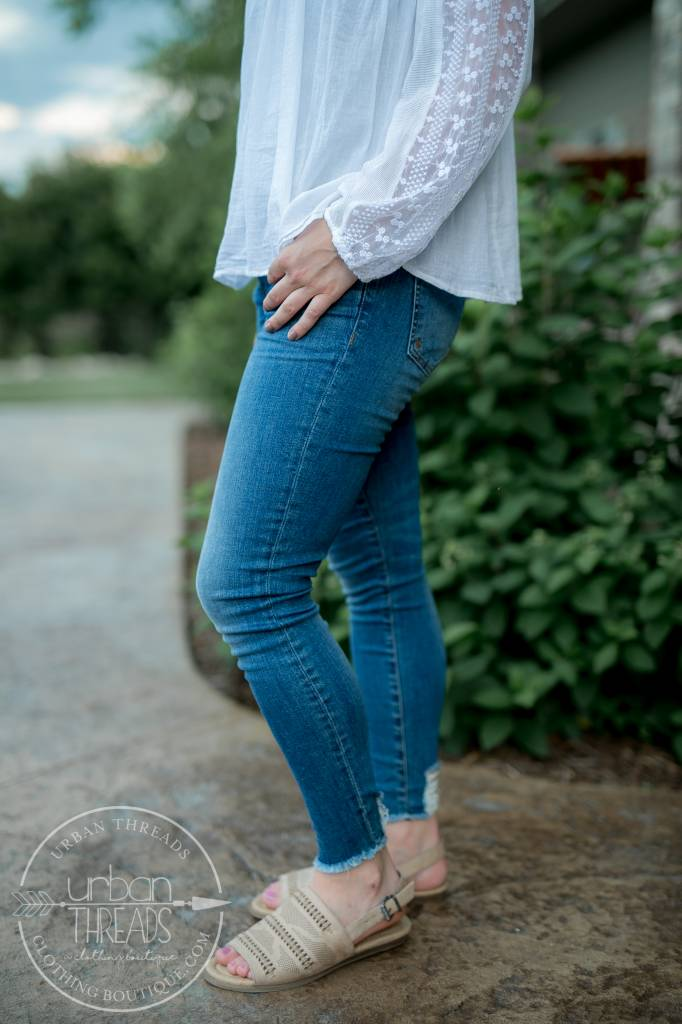 Frayed KUT Connie Ankle Skinnies