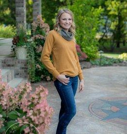 THML Mustard Cowl Neck Sweater