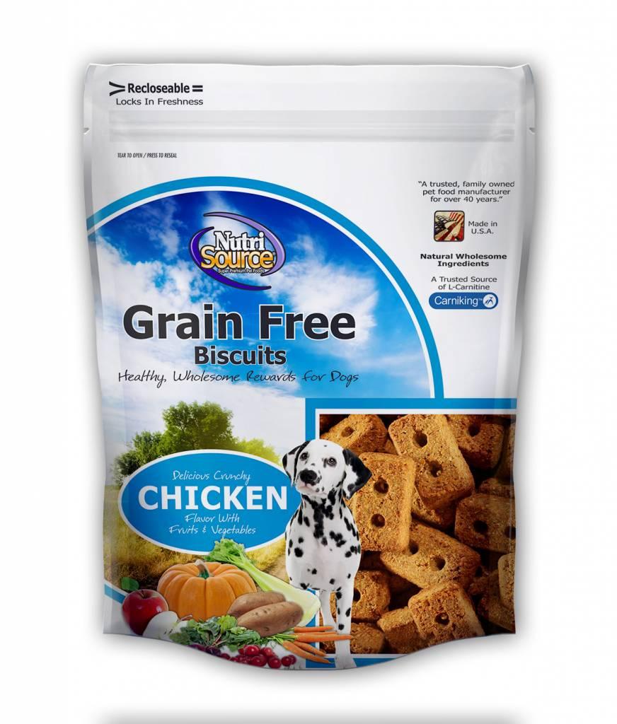 NUTRISOURCE NUTRISOURCE GRAIN FREE CHICKEN BISCUITS  14oz