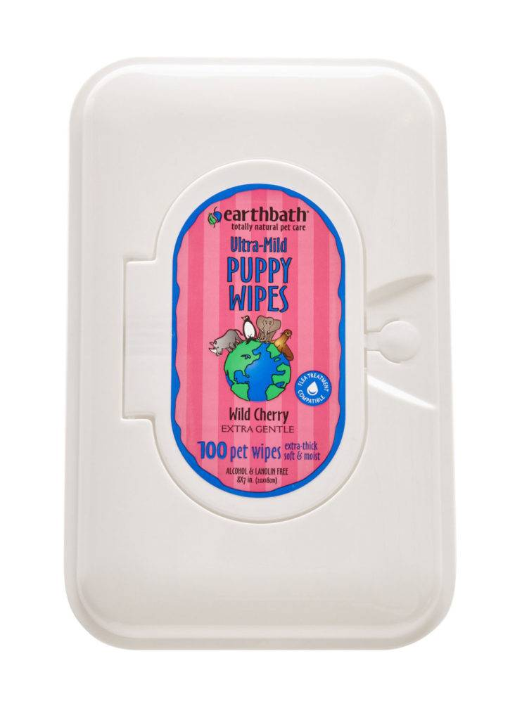 EARTHBATH EARTHBATH ULTRA-MILD PUPPY WIPES WILD CHERRY 100ct