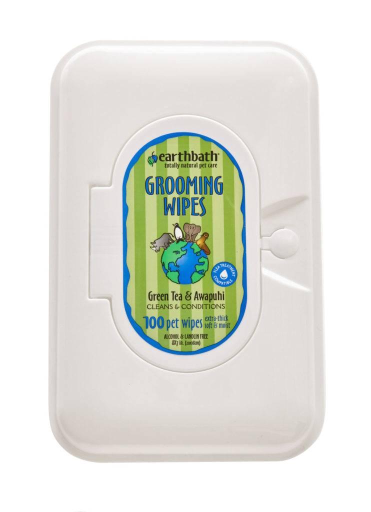 EARTHBATH EARTHBATH GROOMING WIPES GREEN TEA & AWAPUHI 100ct