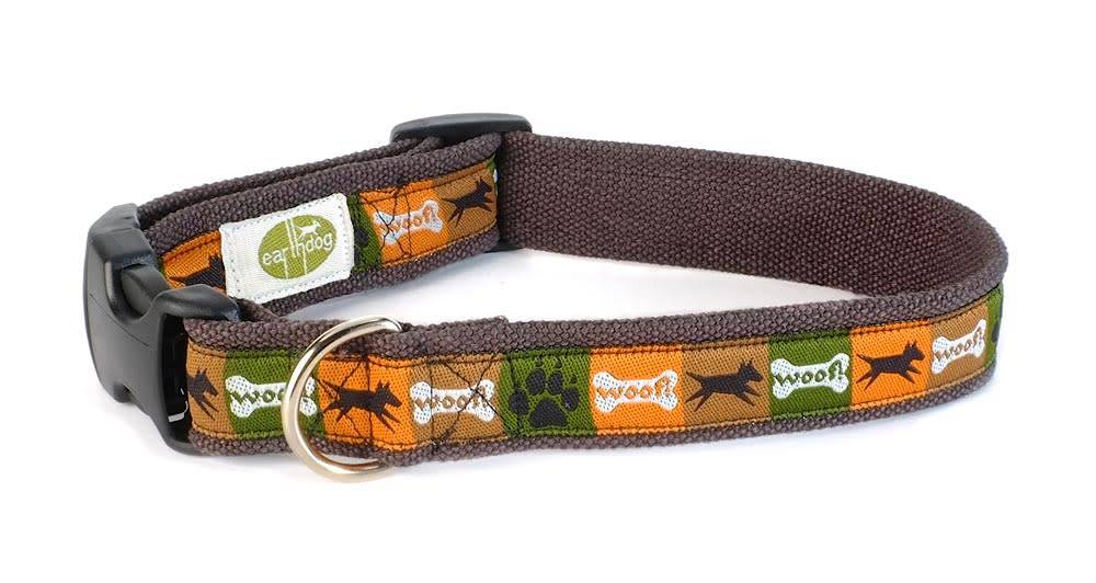 EARTH DOG EARTH DOG SAGE HEMP ADJUSTABLE COLLAR SM