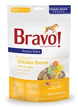 BRAVO BRAVO BONUS BITES FREEZE DRIED CHICKEN BREAST 3oz