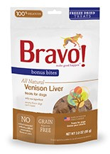 BRAVO BRAVO BONUS BITES FREEZE DRIED VENISON LIVER 3oz