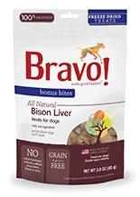 BRAVO BRAVO BONUS BITES FREEZE DRIED BUFFALO LIVER 3oz