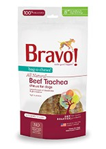 BRAVO BRAVO BEEF TRACHEA BAG O CHEWS