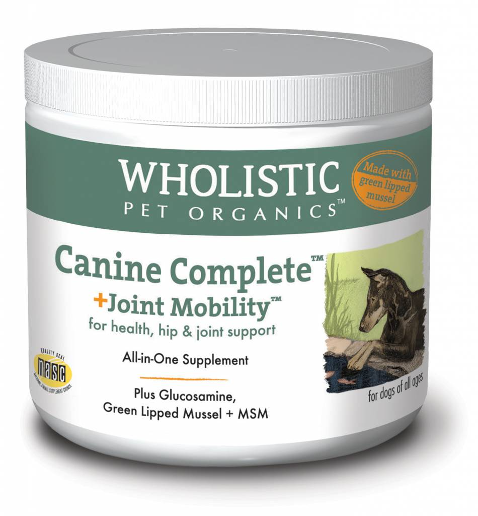 WHOLISTIC PET ORGANICS WHOLISTIC CANINE COMPLETE JOINT MOBILITY WITH GREEN LIPPED MUSSEL 8oz