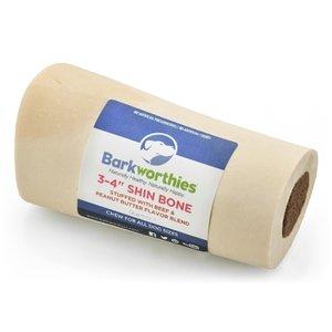"BARKWORTHIES BARKWORTHIES SHIN BONE STUFFED WITH PEANUT BUTTER BLEND 3-4"""