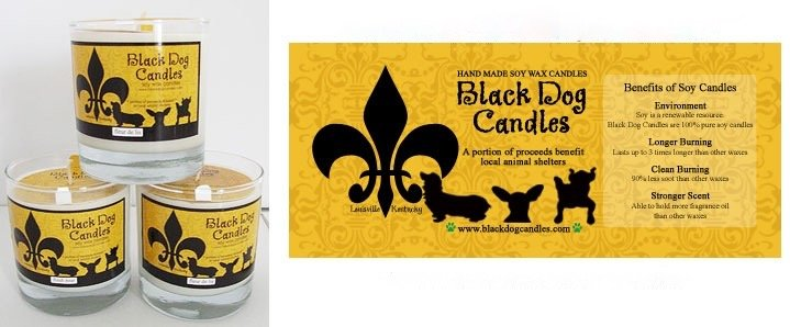 BLACK DOG CANDLES BLACK DOG WELCOME HOME CANDLE 9oz