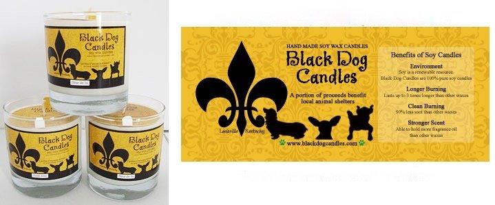 BLACK DOG CANDLES BLACK DOG CHRISTMAS PAST CANDLE 9oz