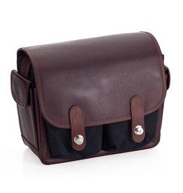 Oberwerth: Freiburg Black Cordura / Dark Brown Leather Bag