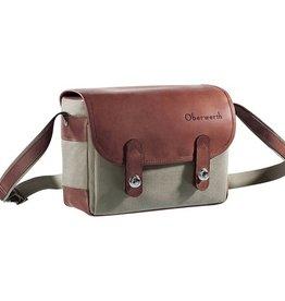Oberwerth: Freiburg Olive Cordura / Dark Brown Leather Bag