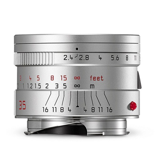 CPO: 35mm / f2.4 ASPH Summarit Silver (E46) (M) 1 Year Warranty