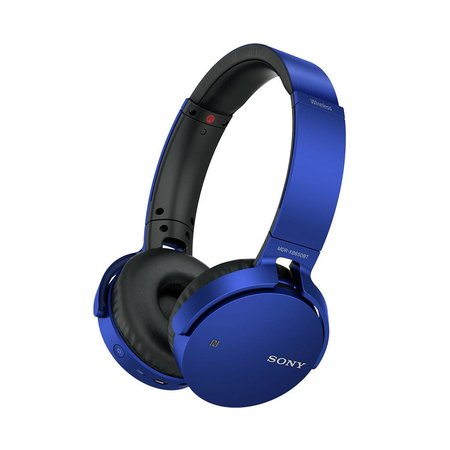 MDR-XB650BT Over-Ear Sound Isolating Wireless Headphones with Mic - Blue