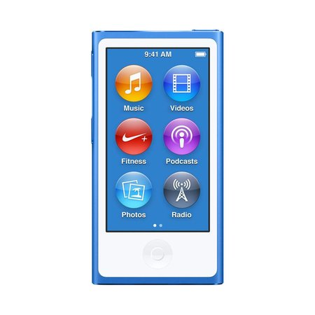 iPod Nano/ 7th Gen/ 16GB/ Blue/Certified Open Box