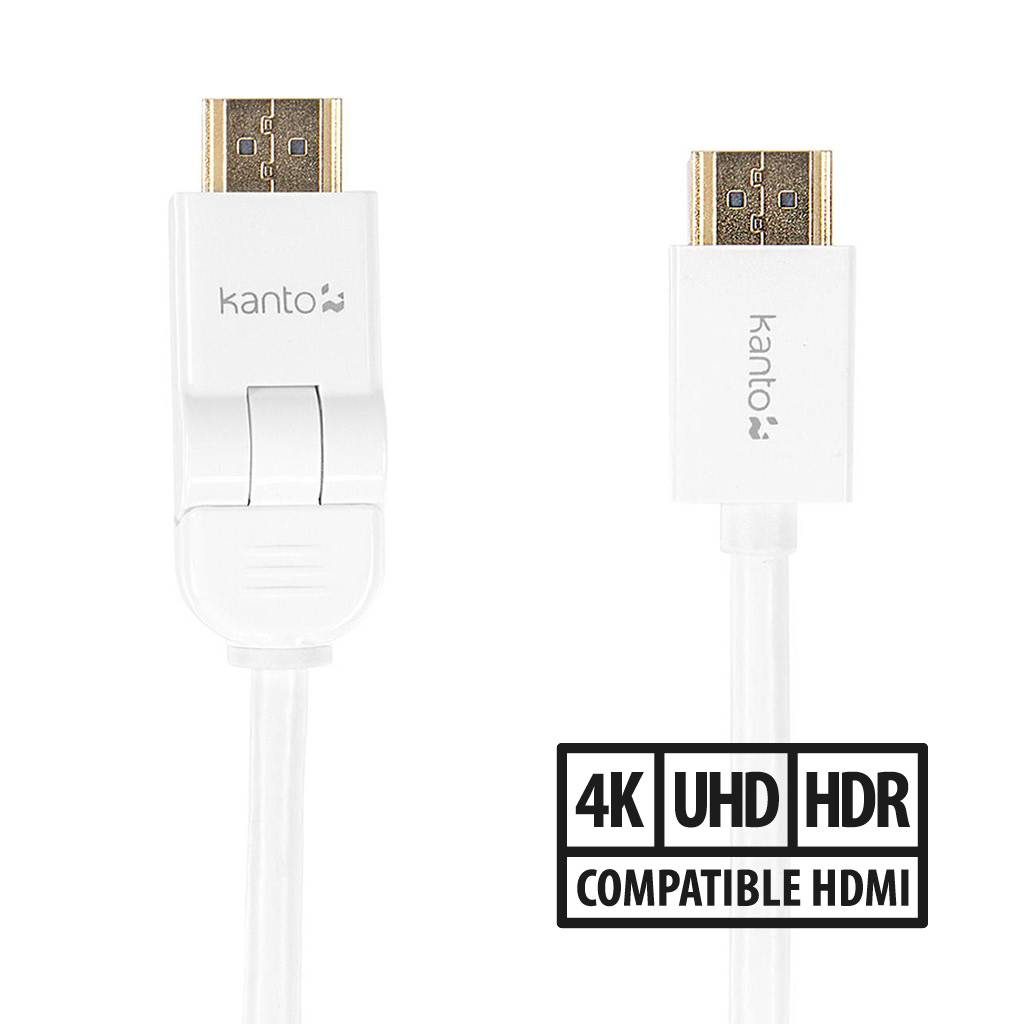 Link by Kanto HDMI Cable with Swivel (P11S) / 3m / 10ft / White
