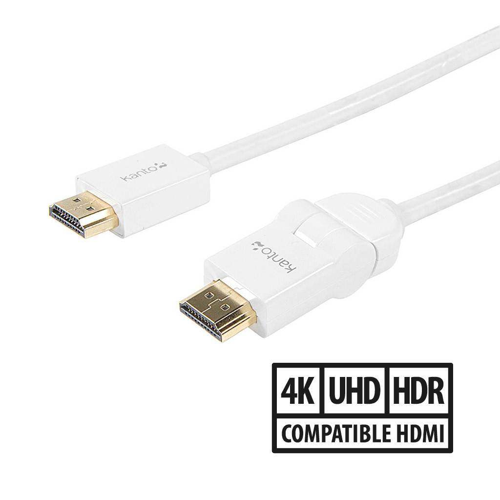 Link by Kanto HDMI Cable with Swivel (P11S) / 2m / 6ft / White