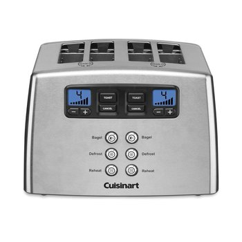 CPT-440C 4-Slice Touch To Toast Leverless Toaster / Silver (90 Days Warranty)