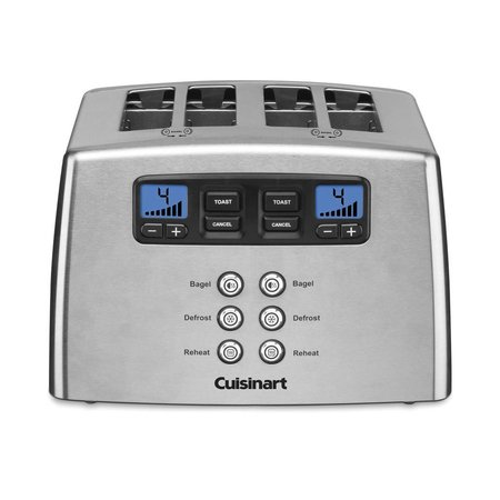 CPT-440C 4-Slice Touch To Toast Leverless Toaster / Silver