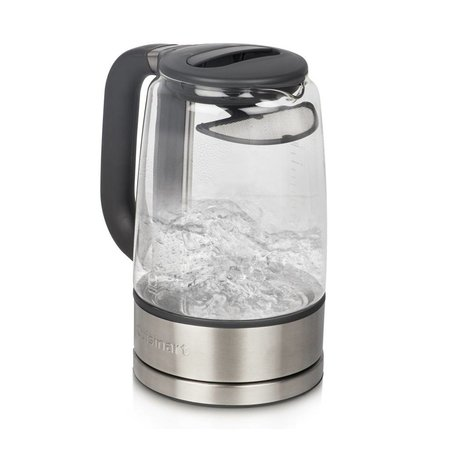 GK-17C ViewPro 1.7 L Glass Kettle / Silver (90 Days Warranty)