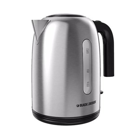 Black & Decker1.7 L Stainless Steel Cordless Electric Kettle KE3035SDKT