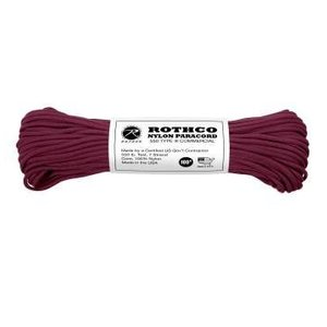 Rothco Nylon Type III 550 Paracord 100ft - Burgundy