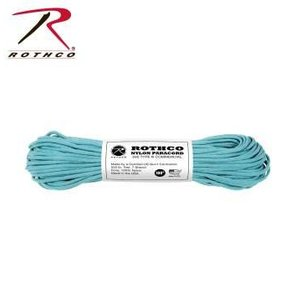 Rothco Nylon Type III 550 Paracord 100ft - Turquoise