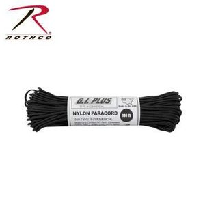 Rothco Nylon Type III 550 Paracord 100ft - Black