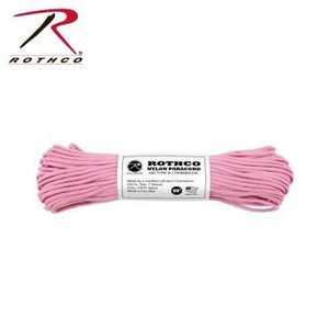 Rothco Nylon Type III 550 Paracord 100ft - Rose Pink
