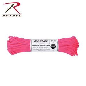 Rothco Nylon Type III 550 Paracord 100ft - Neon Pink