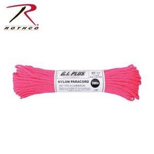 Rothco Nylon Type III 550 Paracord 100ft - Neon Pink