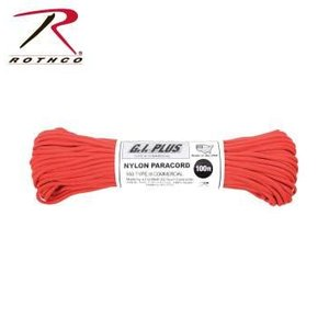 Rothco Nylon Type III 550 Paracord 100ft - Red