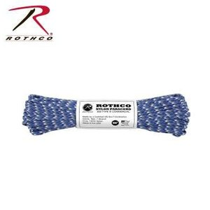 Rothco Nylon Type III 550 Paracord 100ft - Blue Camo