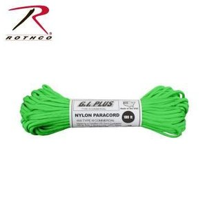 Rothco Nylon Type III 550 Paracord 100ft - Safety Green