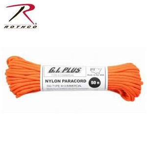 Rothco Nylon Type III 550 Paracord 100ft - Orange