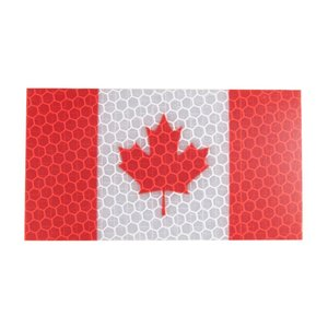 PatchPanel Canadian Flag - HI VIZ Patch (Red & White)