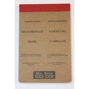 """Mil-Spex Mil-Spex Field Military Message Pad 4.5"""" x 6.75"""" (No. 318)"""