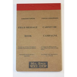 World Famous Field Message Book (Canadian Forces Style)