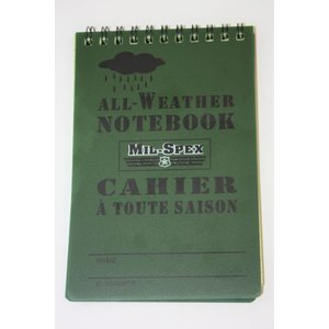 "Mil-Spex Mil-Spex All-Weather Notebook - 3"" x 5"" (MAG6)"