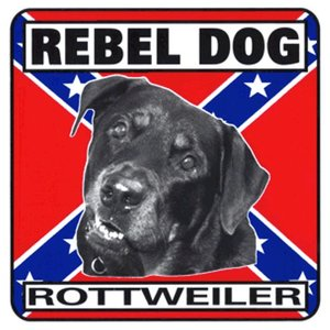 Militaria Rebel Dog Sign - Rottweiler