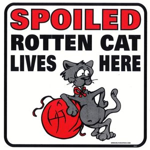 Militaria Spoiled Rotten Cat Sign