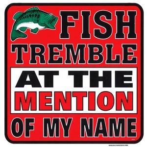 Militaria Fish Tremble Sign