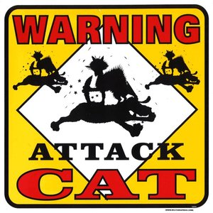 Militaria Attack Cat Sign