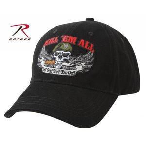 "Rothco ""Kill 'Em All"" Baseball Cap (Black)"