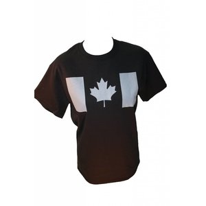Poco Miltary Grey Canada Flag on Black T-Shirt