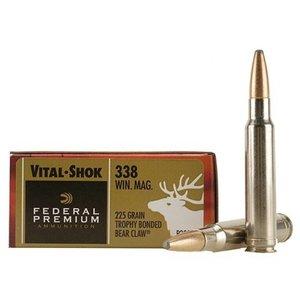 Federal Federal Premium Vital-Shok 338 Winchester Magnum (225 Grain Trophy Bonded Bear Claw)