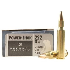 Federal Federal Power-Shok 222 Remington (50 Grain SP)