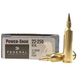 Federal Federal Power-Shok 22-250 Remington (55 Grain SP)
